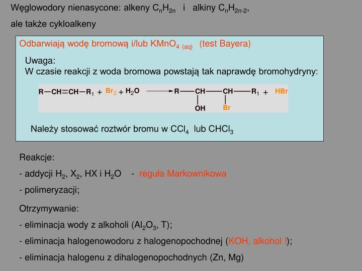 Węglowodory nienasycone: alkeny C