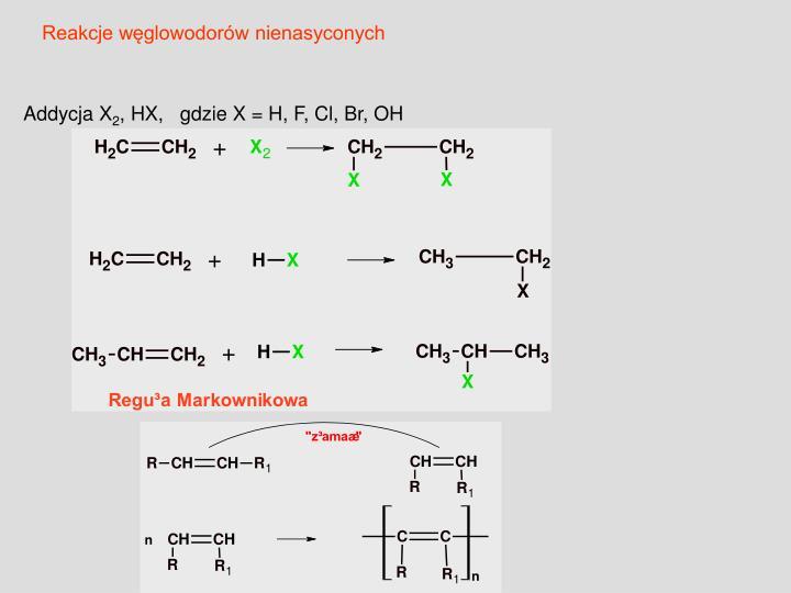 Reakcje węglowodorów nienasyconych