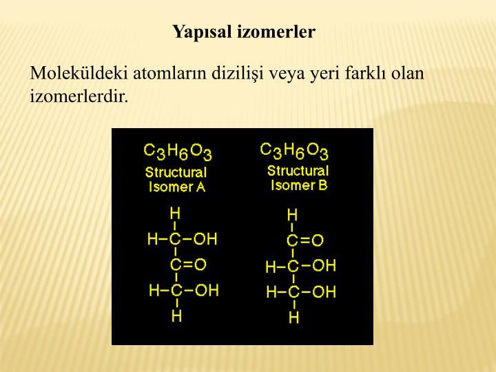 Yapsal izomerler