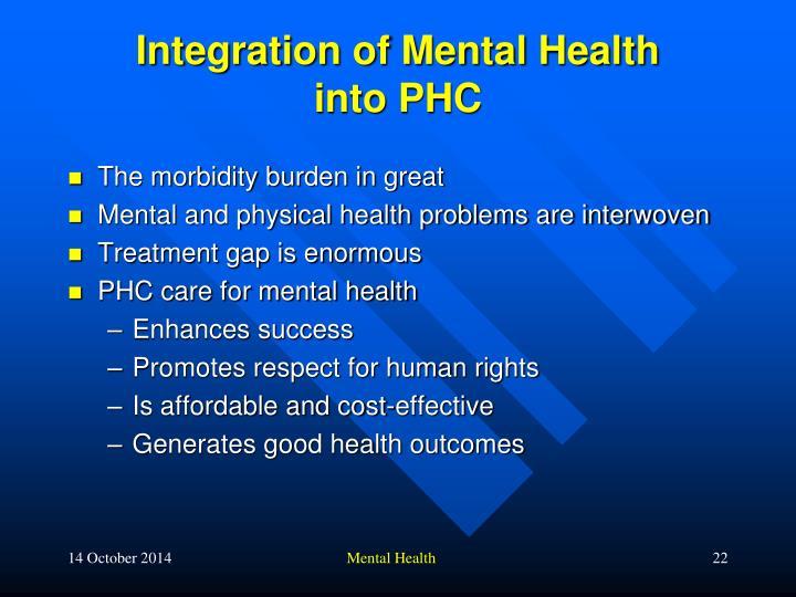 Integration of Mental Health
