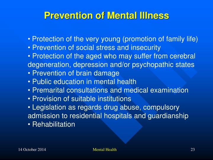 Prevention of