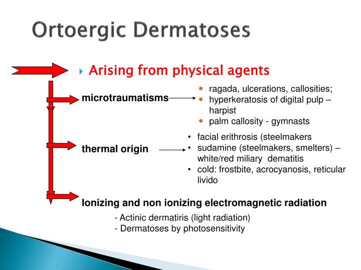 Ortoergic Dermatoses