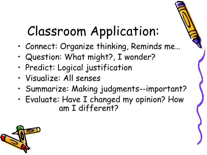Classroom Application: