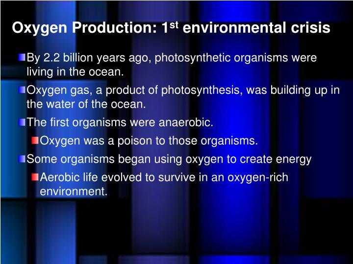 Oxygen Production: 1