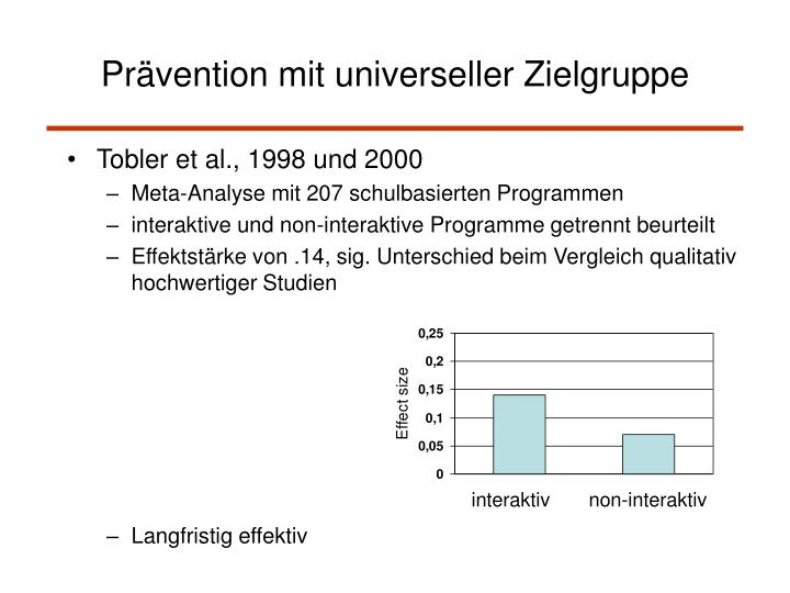 Tobler et al., 1998 und 2000