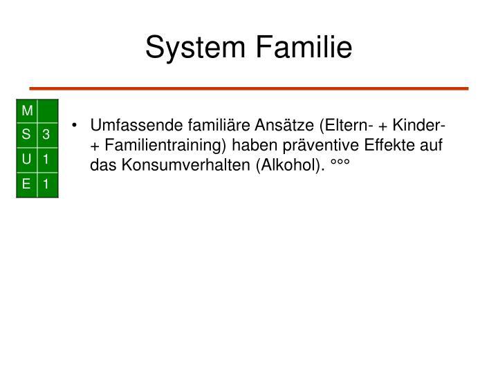 System Familie