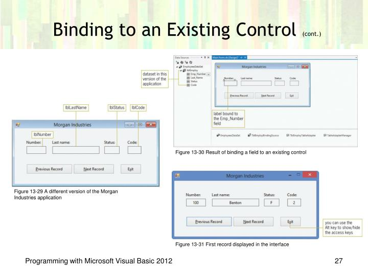 Binding to an Existing