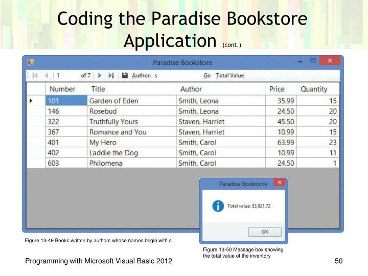 Coding the Paradise Bookstore