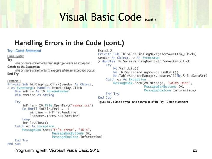 Visual Basic Code