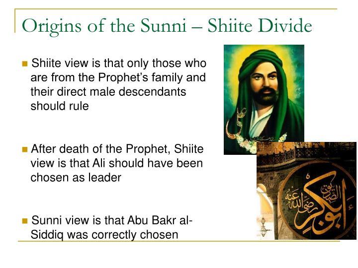 Origins of the Sunni – Shiite Divide