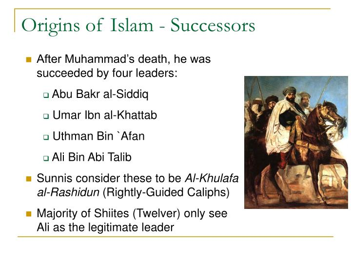 Origins of Islam - Successors