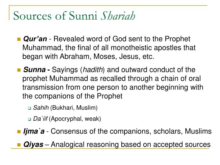 Sources of Sunni