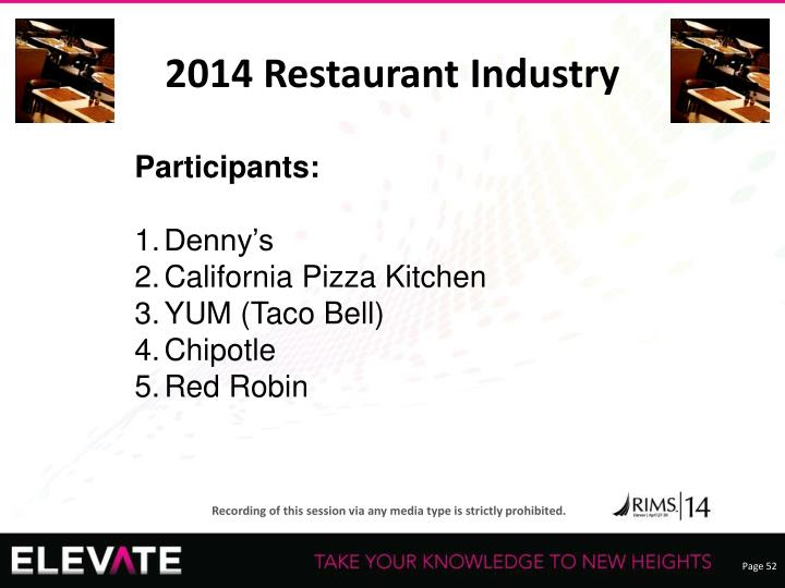 2014 Restaurant Industry