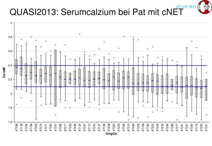 QUASI2013: Serumcalzium bei Pat mit cNET