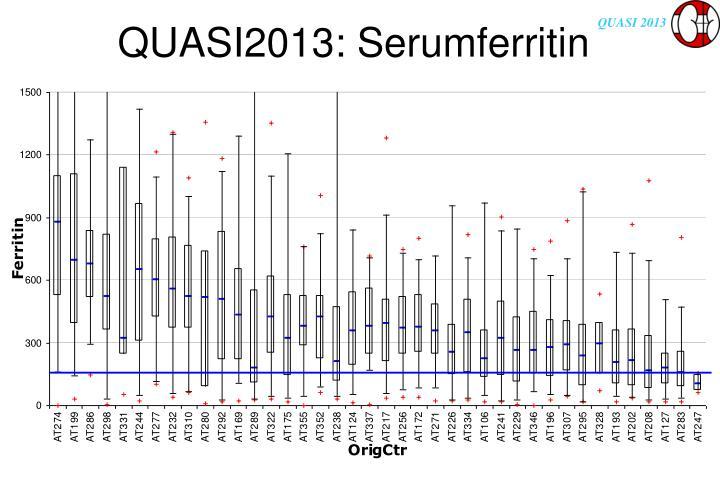 QUASI2013: Serumferritin