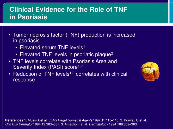 Clinical Evidence for the Role of TNF