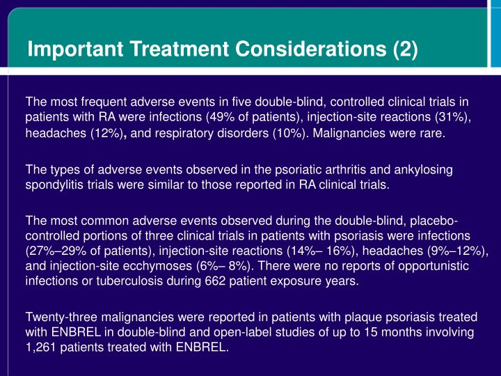 Important Treatment Considerations (2)