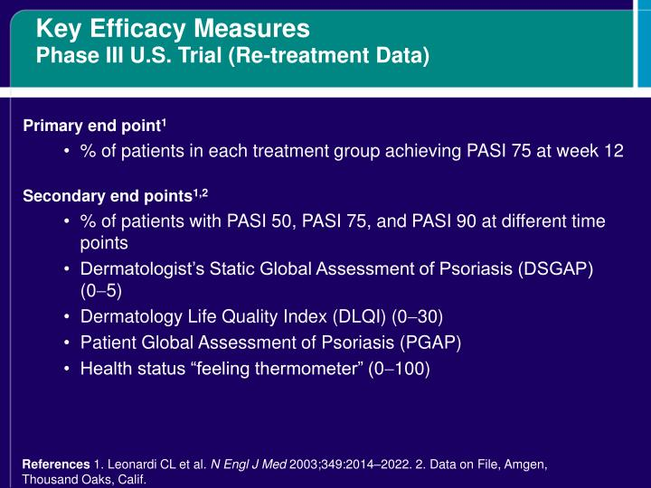 Key Efficacy Measures