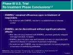 phase iii u s trial re treatment phase conclusions 1 2