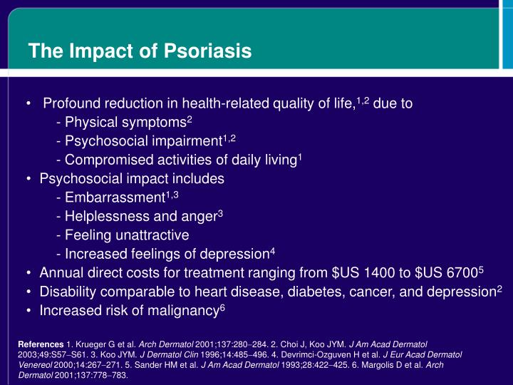The Impact of Psoriasis