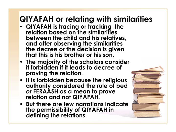 QIYAFAH or relating with similarities
