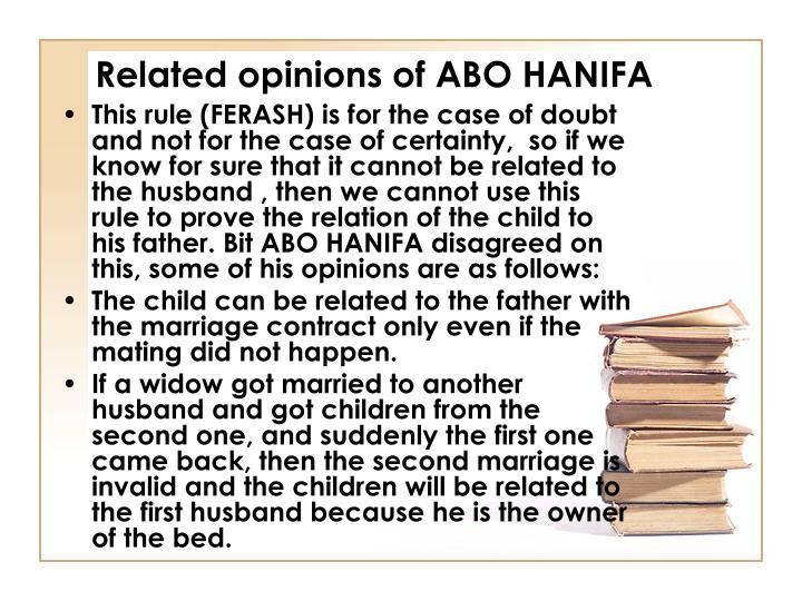 Related opinions of ABO HANIFA