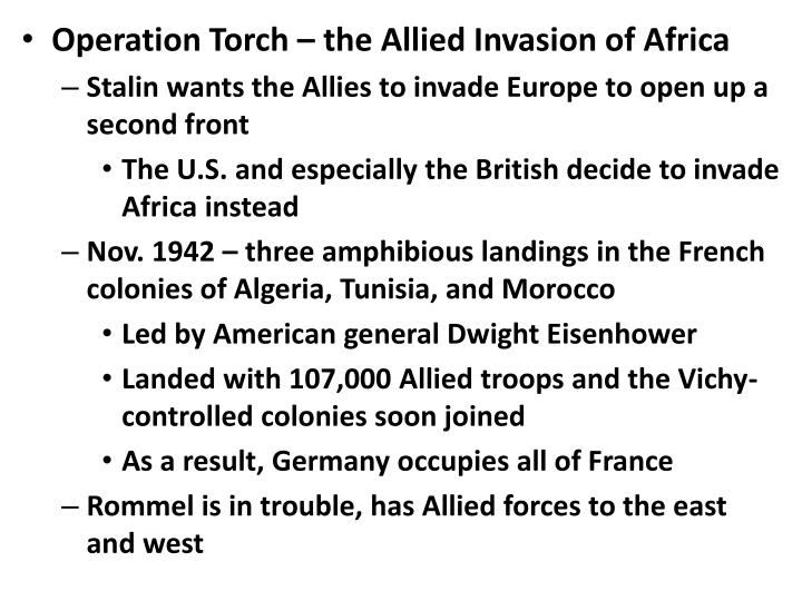 Operation Torch – the Allied Invasion of Africa