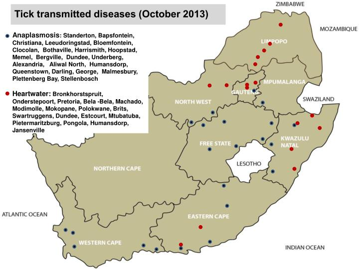 Tick transmitted diseases (October 2013)