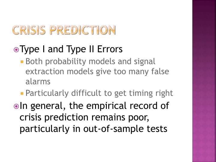 Crisis prediction
