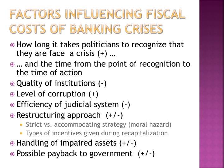 Factors influencing Fiscal
