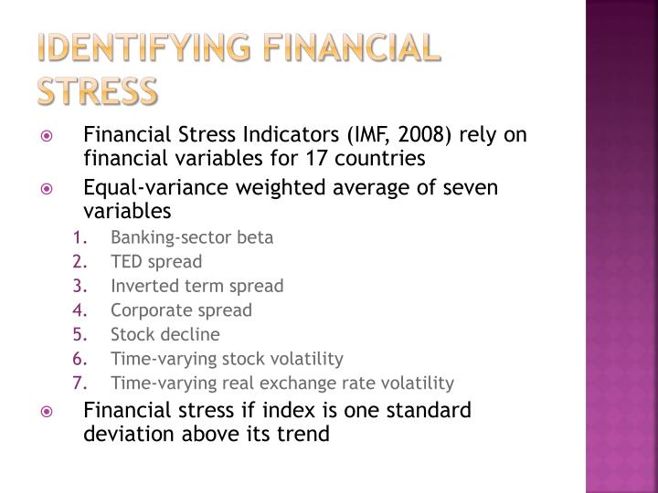 Identifying financial stress