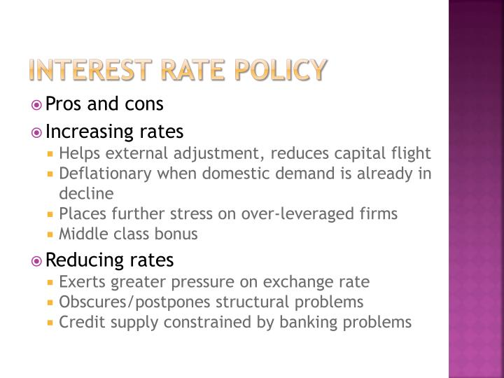 Interest rate Policy