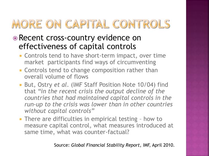 more on capital controls