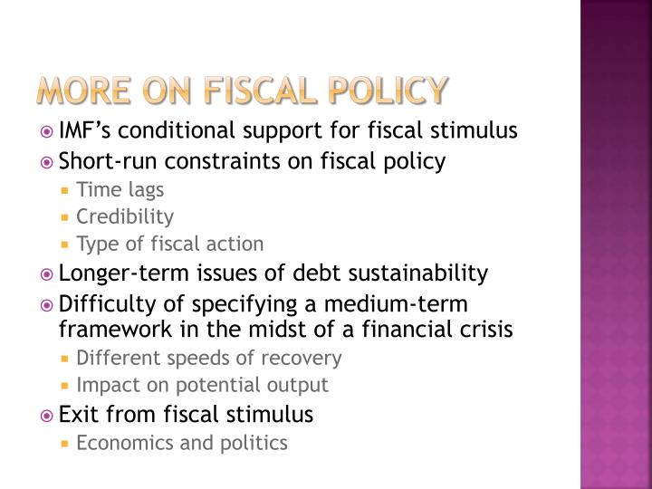More on Fiscal Policy