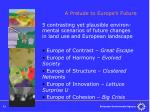 a prelude to europe s future