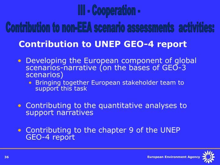 III - Cooperation -