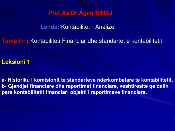 Prof.As.Dr.Agim