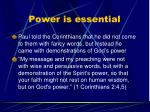 power is essential