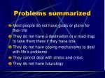 problems summarized