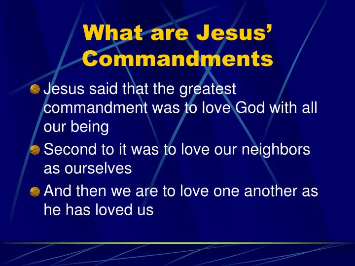 What are Jesus' Commandments
