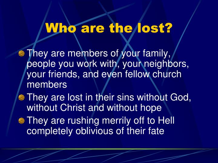 Who are the lost?