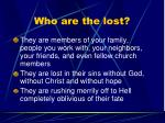 who are the lost