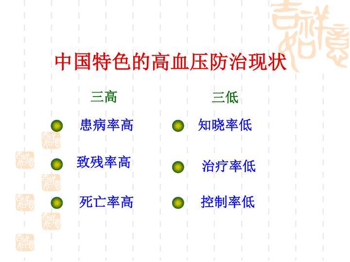 中国特色的高血压防治现状