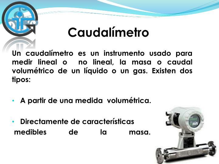 Caudalímetro
