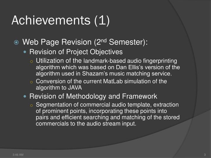 Achievements (1)