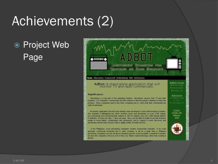 Achievements (2)
