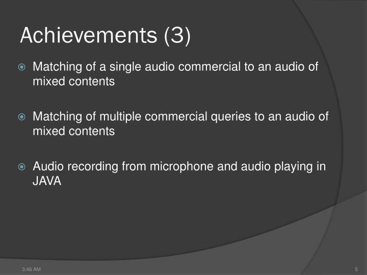 Achievements (3)