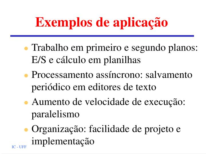 Exemplos de aplicação