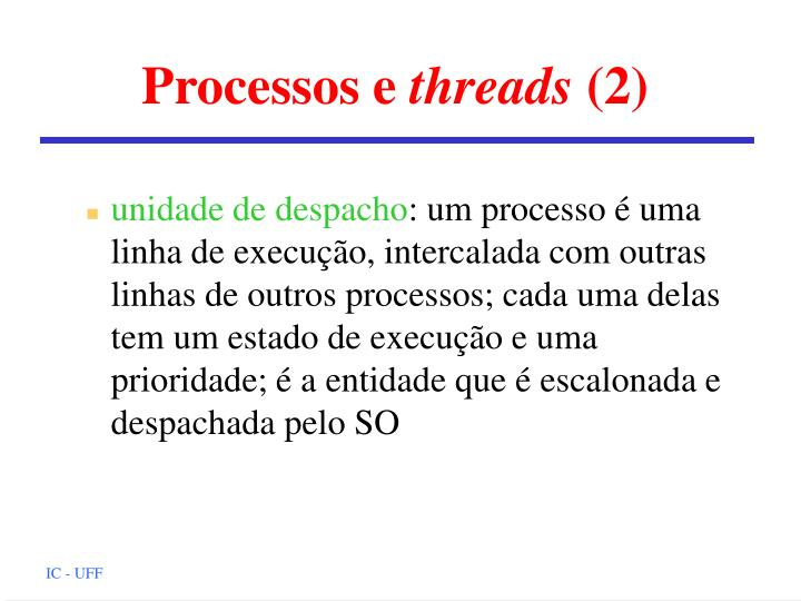 Processos e threads 2