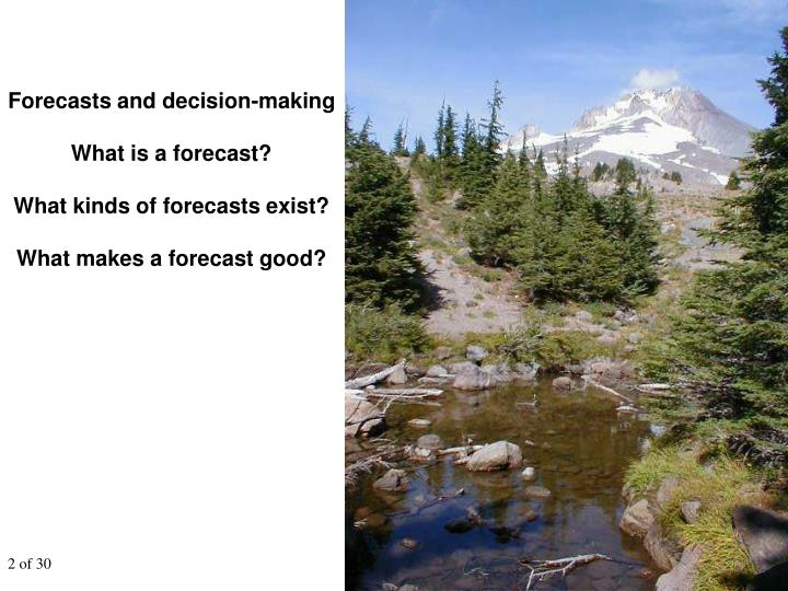 Forecasts and decision-making